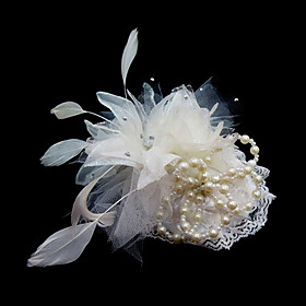 Gorgeous Satin/ Feather Wedding Bridal Flowers/ Headpiece