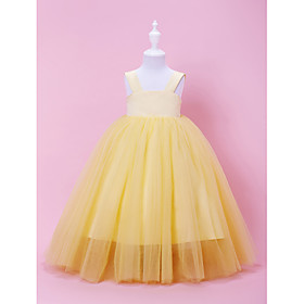 Concise A-line/Princess Floor-length Flower Girl Tutu Dress