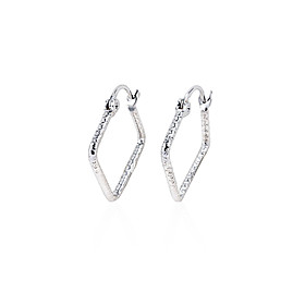 Rhinestone With Platinum Plated Earings