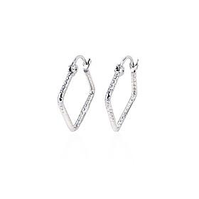 Rhinestone With Platinum Plated Earings