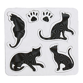 Cute Black Cat Shaped Fridge Magnets