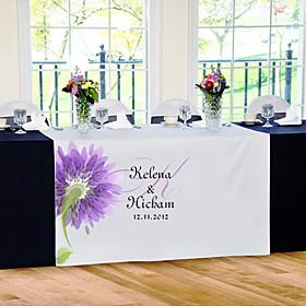 Personalize Reception Desk Table Runner - Flower