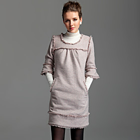 TS Checkered Half Sleeve Dress