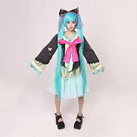 Vocaloid - Hatsune Miku: Project DIVA 2 Courtesan Kimono Cosplay Costume