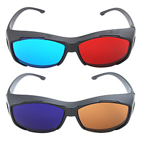 Re-useable Plastic Frame Resin Lens 3D Glasses
