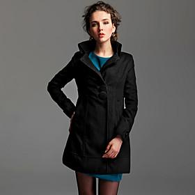 TS Stand Collar Pea Coat
