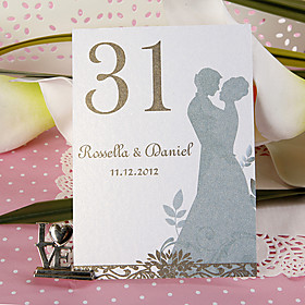 Personalized Table Number Card - Lover (set of 10)