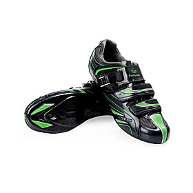 Cycling Road SPD Shoes With Fiberglass Sole And PU Leather Upper