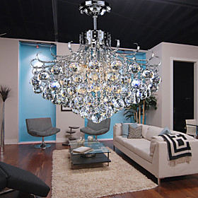 Crystal Pendant Light with 6 Lights