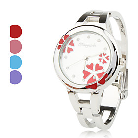 Alloy Band Quartz Bracelet Watch For Women