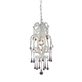 Artistic Crystal Pendant Light with 1 Light