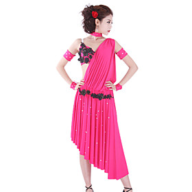 Dancewear Polyester Performance Dresses For Ladies