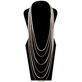 TS Fashionable Stacked Statement Necklace