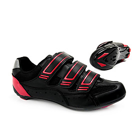 Cycling Road SPD Shoes With Fiberglass Sole And PVC Leather Upper Can Compatibility SPD,Look,SPD-R,SPD-SL