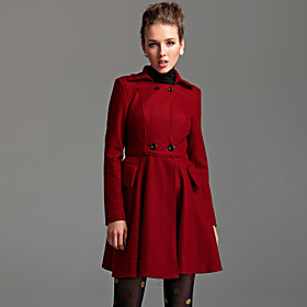 TS Double Breasted Lapel Pea Coat