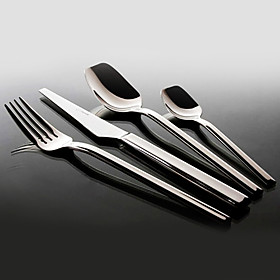 4-Piece Simplicity Stainless Steel Flatware Set