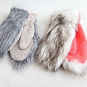 TS Long-haired Wool Mittens (More Colors)