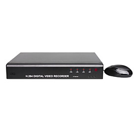 4 Channel D1 DVR (H.264 Compression   Dual-Stream Transmission)