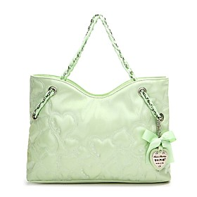 TS Chain Embellished Heart Hobo Bag(40cm 28cm 10cm)