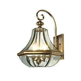 Antique Inspired Wall Light with 3 Lights
