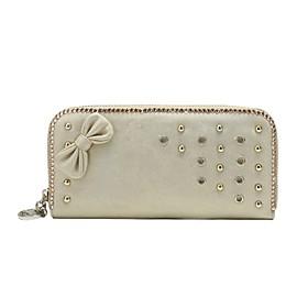 TS Metallic Jewel Zipper Wallet(20cm 10cm 2.5cm)