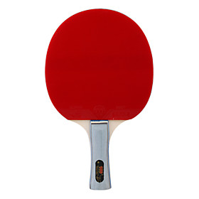 Red Black Double Rubber Face Sideward's Ping Pong Table Tennis Bat