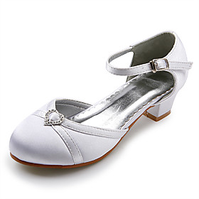 Top Quality Satin Upper Low Heel Closed-toes Flower Girls Shoes / Wedding Shoes.More Colors Available