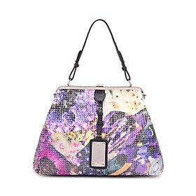 TS Floral Sequin Snap Tote Bag (More Colors)(33cm 24cm 9cm)