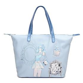 TS Vintage Girl Tote Bag(43cm 33cm 13cm)