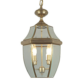 Stylish Pendant Light with 2 Lights - Antique Inspired