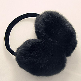 TS Adjustable Faux Fur Black Ear Muffs