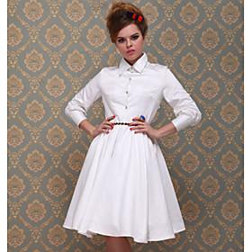 TS VINTAGE Skirt Blouse Full Swing Dress