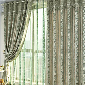 Jacquard Classic Grey / Lavender Blackout Curtains (Pair)