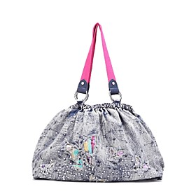 TS Rainbow Butterfly Soft Tote Bag (More Colors) (41cm 27cm 15cm)