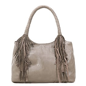 TS Tassel and Leaf Tote Bag (More Colors)(34cm 26cm 11cm)