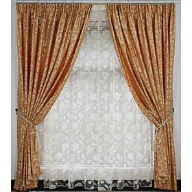 Contemporary Grey / Yellow Print Blackout Curtains (Pair)