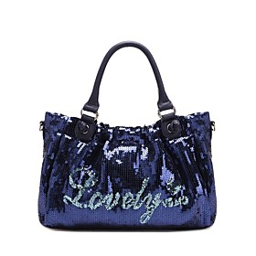 TS Blue Lovely Sequin Tote Bag(33cm 20cm 8cm)