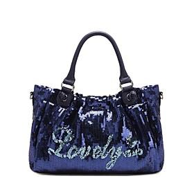 TS Blue Lovely Sequin Tote Bag(33cm 20cm 8cm)