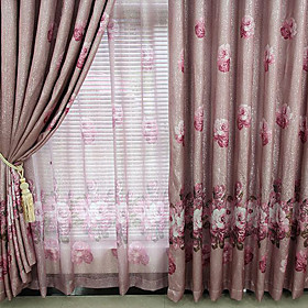 Casual Print Ivory Blackout Curtains (Pair)