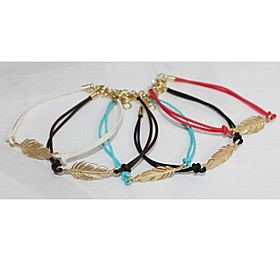 TS Feather Braided Bracelet