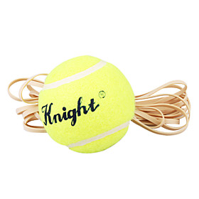 Sports Training Yellow Green Tennis Ball Trainer w Rubber Band