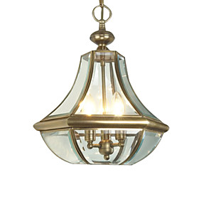 Pendant Light with 3 Lights - Antique Inspired