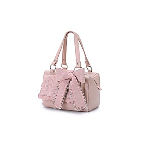 TS Chain Embellished Bow Tie Shoulder Bag(25cm 27cm 12cm)
