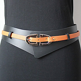 TS Color Block Layered Wide Belt