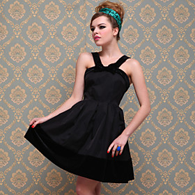 TS Vintage Wide Velvet Strap Jersey Dress