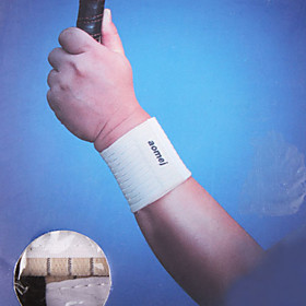 Pair of Cream-colored Sports Elastic Wrist Support Protector