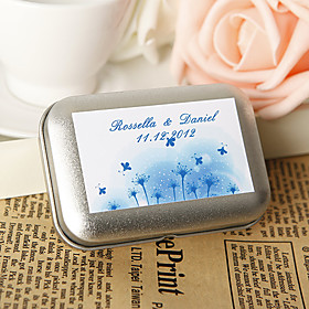 Personalized Favor Tin - Dandelion and Firefly (Set of 12)