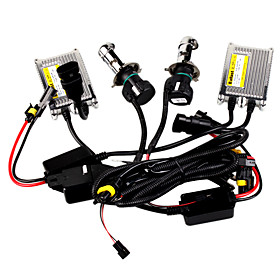 H4 HID Xenon Kit with Thin Metal Ballast 55W, Flexbie Bulb
