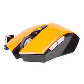 SOUND FRIEND 2.4GHz Wireless Mouse -10M Wireless Receiver/800 To 1200 DPI optical sensor(orange)
