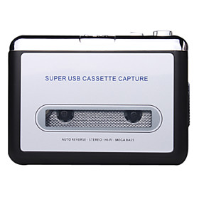 Ezcap USB Cassette Capture, Convert Tapes and Cassette to MP3, Portable USB Cassette-to-MP3 Converter Capture